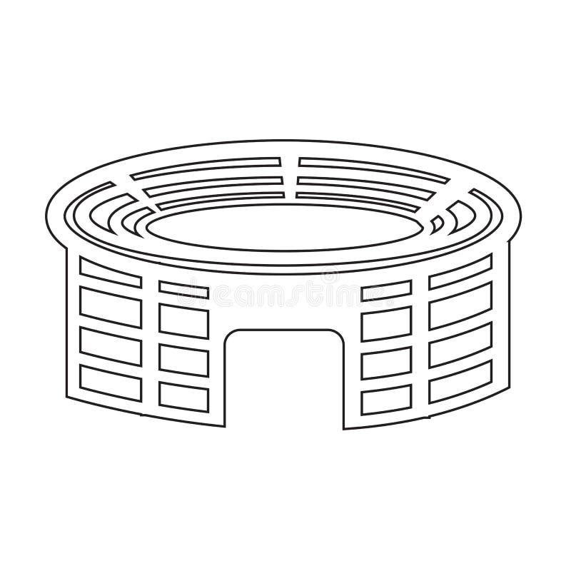 Stadionpictogram stock illustratie