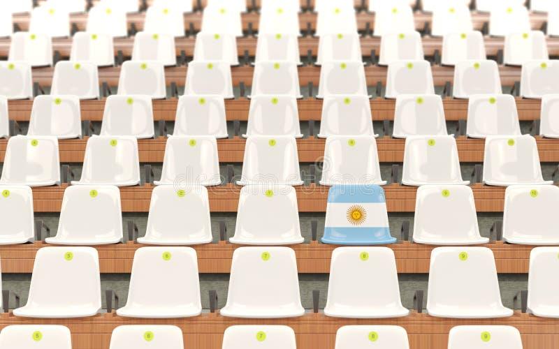 Stadionplats med flaggan av Argentina vektor illustrationer