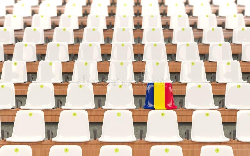 Stadionplats med flaggan av chaden royaltyfri illustrationer