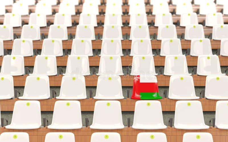 Stadionplats med flaggan av Oman vektor illustrationer