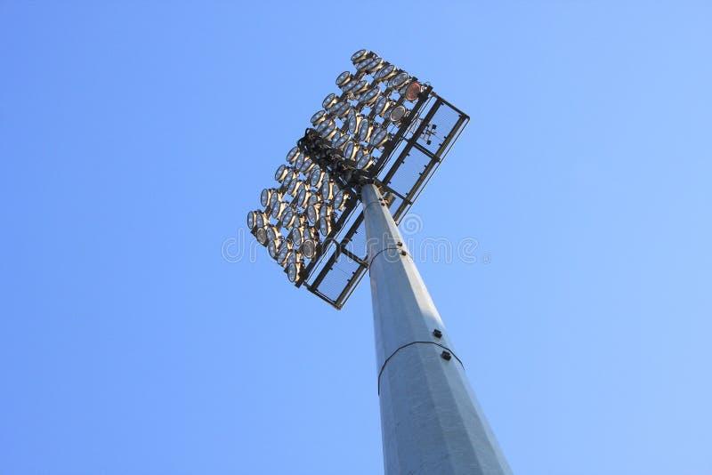 Stadionreflektor royaltyfri bild