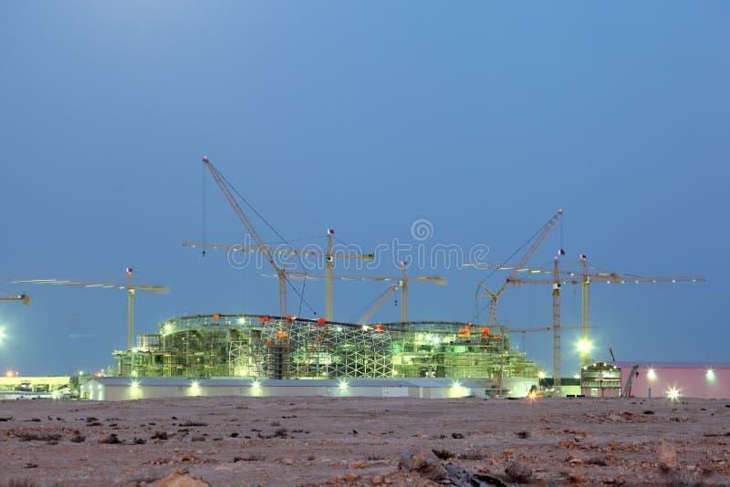 Stadionsbau in Katar stockfoto