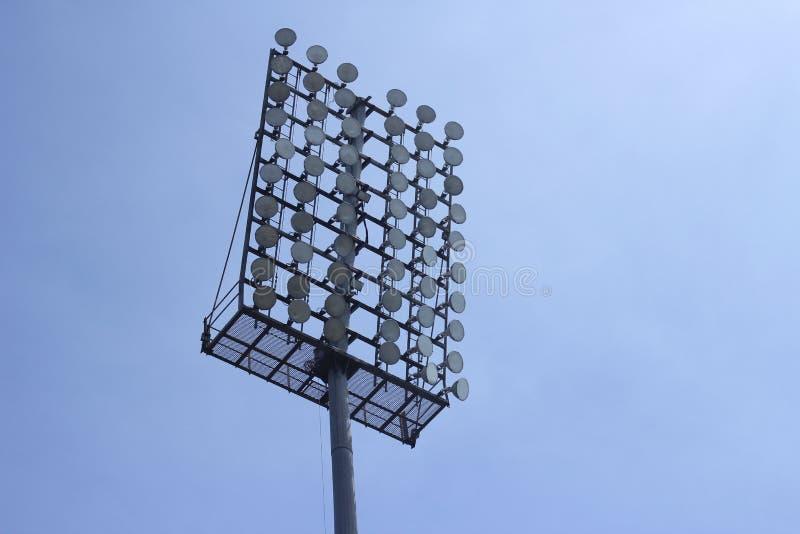 Stadionschijnwerper stock foto