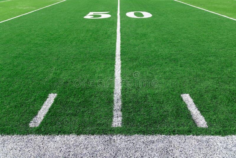 Stadionshintergrund des amerikanischen Fußballs stockbilder