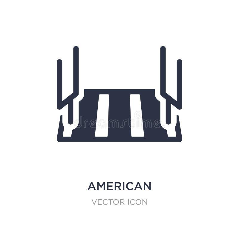 Stadionsikone des amerikanischen Fußballs auf weißem Hintergrund Einfache Elementillustration vom Konzept des amerikanischen Fußb lizenzfreie abbildung