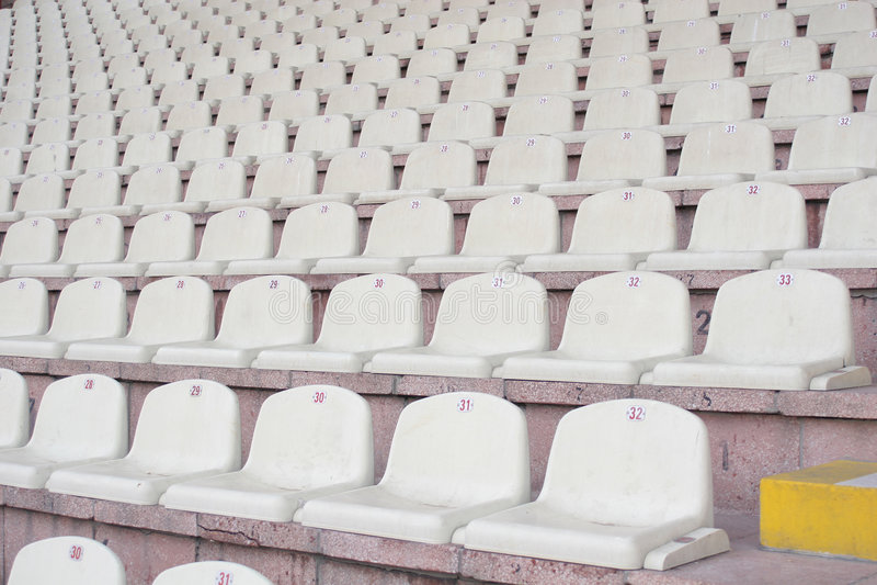Stadionsitze stockfoto