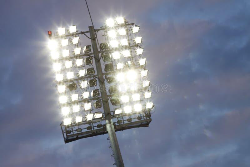 Stadionslichter stockbilder