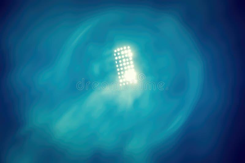 Stadionslichter und -rauch lizenzfreies stockfoto
