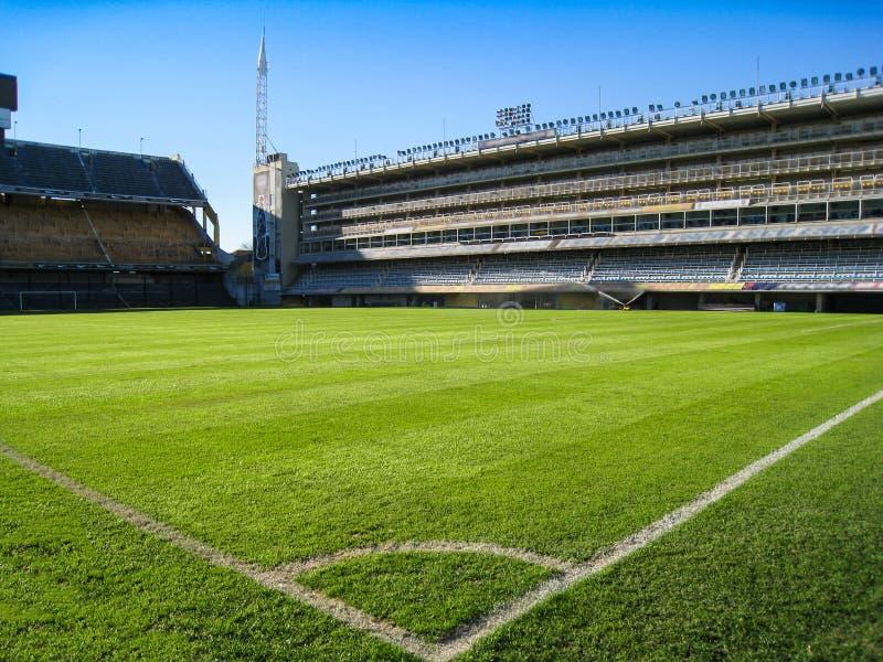 Stadionu futbolowego kąt obraz royalty free
