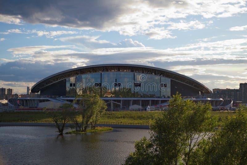 Stadionu futbolowego Kazan arena zdjęcia stock