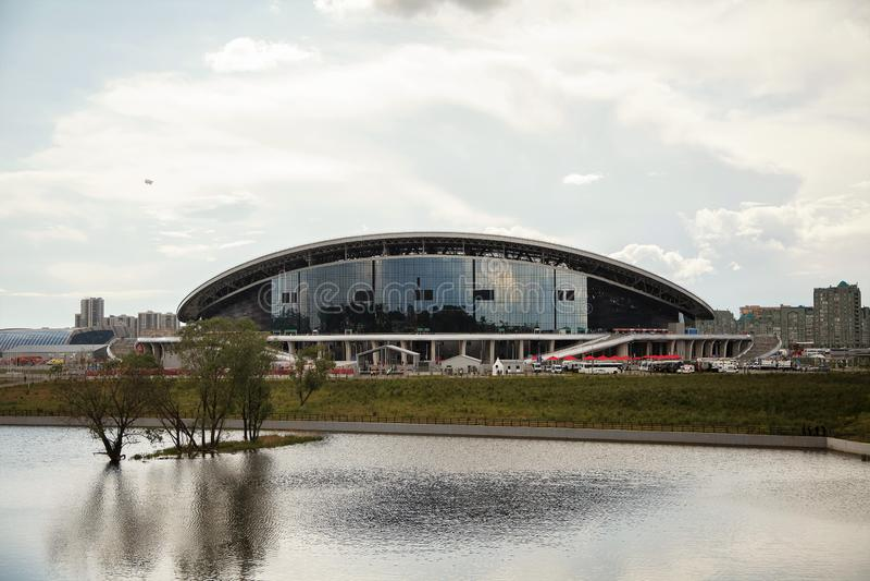 Stadionu futbolowego Kazan arena obraz royalty free