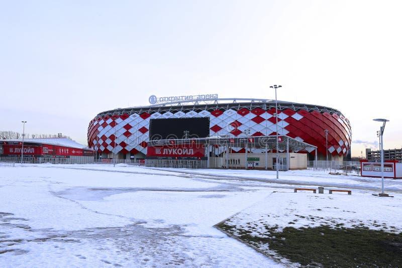 Stadionu futbolowego Spartak otwarcia arena w Moskwa zdjęcie royalty free