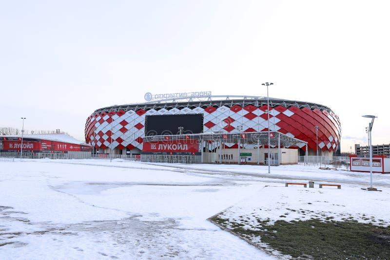 Stadionu futbolowego Spartak otwarcia arena w Moskwa obraz royalty free