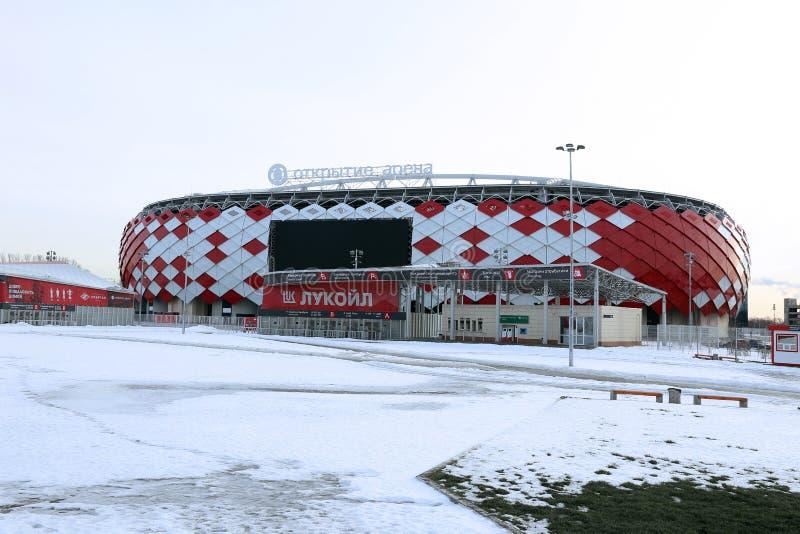 Stadionu futbolowego Spartak otwarcia arena w Moskwa zdjęcie stock