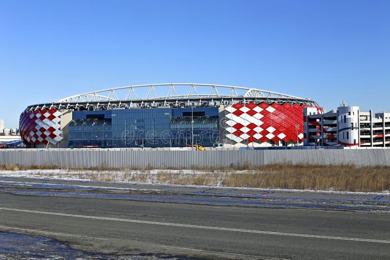 Stadionu futbolowego Spartak otwarcia arena w Moskwa obraz stock