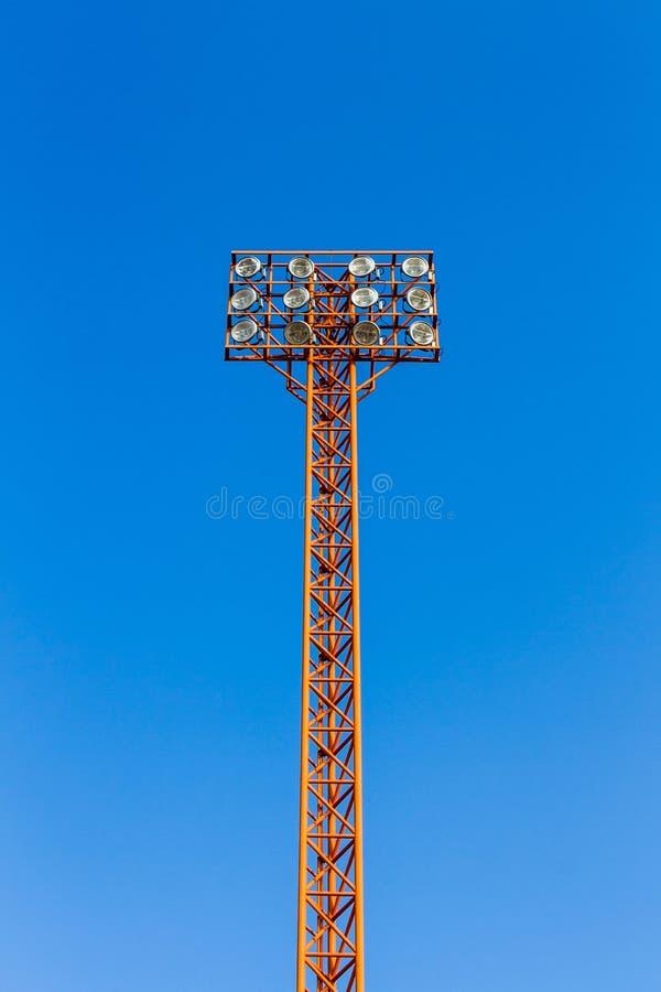 Stadium światła wierza. zdjęcie royalty free