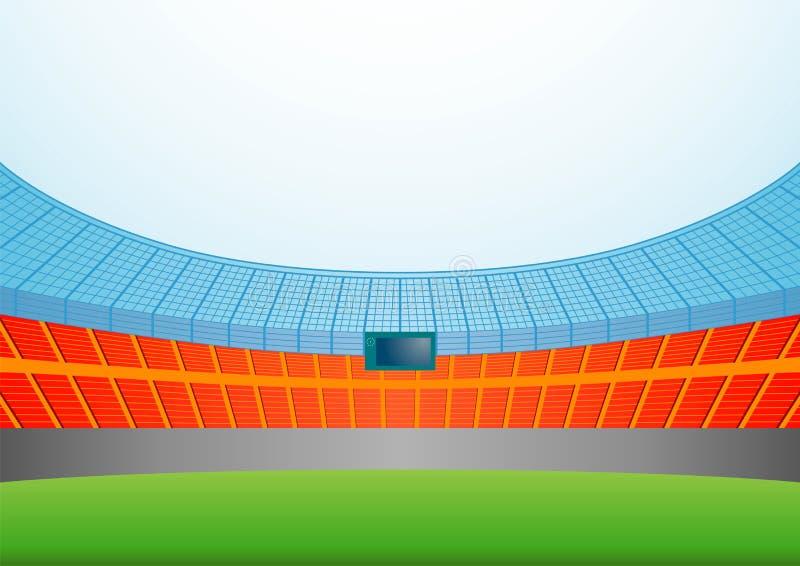 Stadium. Background of sports stadium. Vector illustration stock illustration