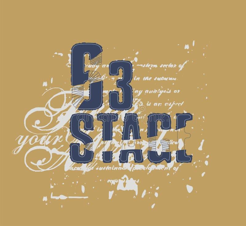 Stadium 63 stock illustratie