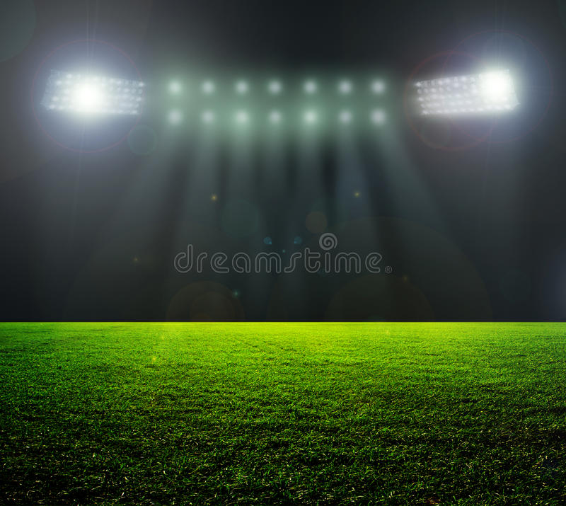 On the stadium. stock image