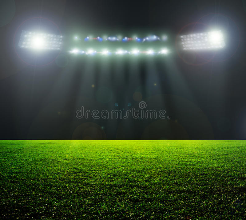 On the stadium. stock photo