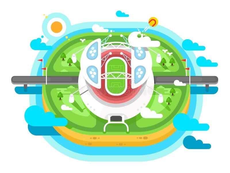 Stadium areny budynku płaski projekt ilustracja wektor