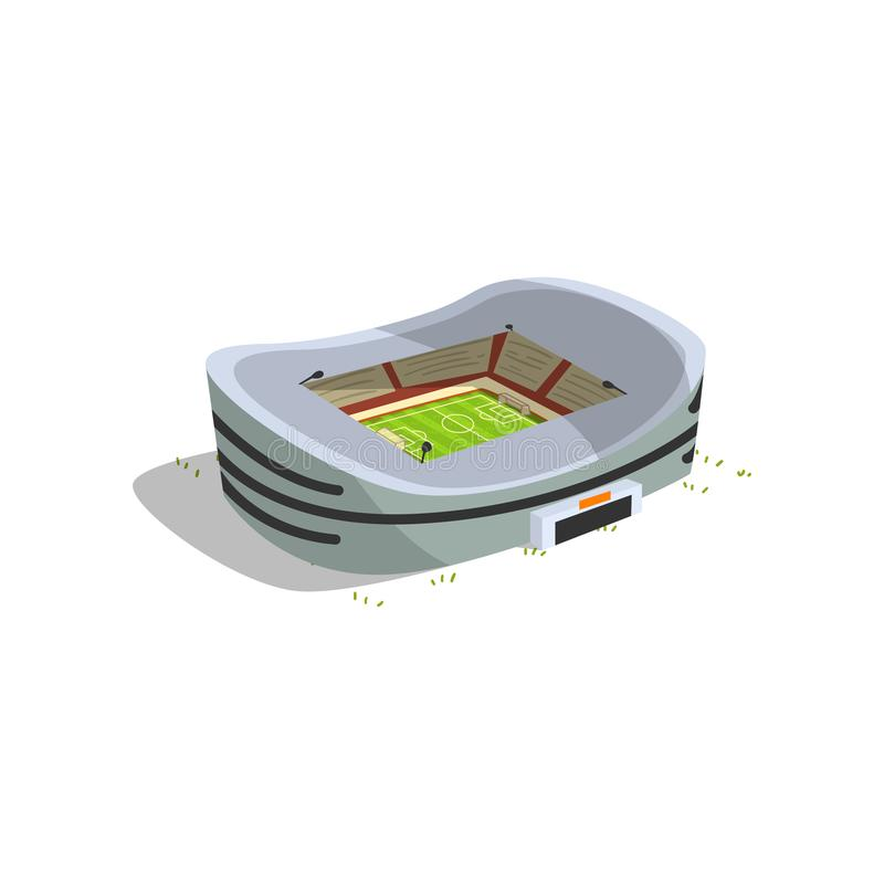 Stadium budynek, sporty futbol, piłki nożnej areny wektorowa ilustracja na białym tle ilustracja wektor
