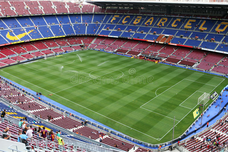 Download Stadium Camp Nou editorial stock image. Image of football - 21231419
