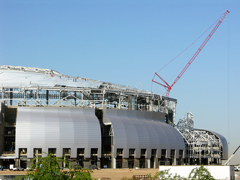 Stadium Construction - Single stock image