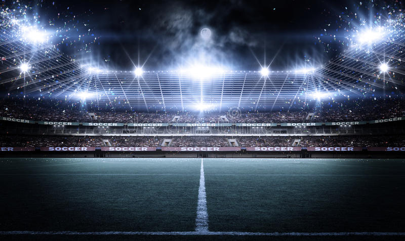 Stadium, 3d rendering ilustracja wektor