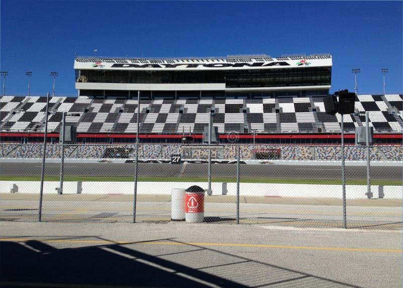 Stadium at Daytona Speedway stock photo