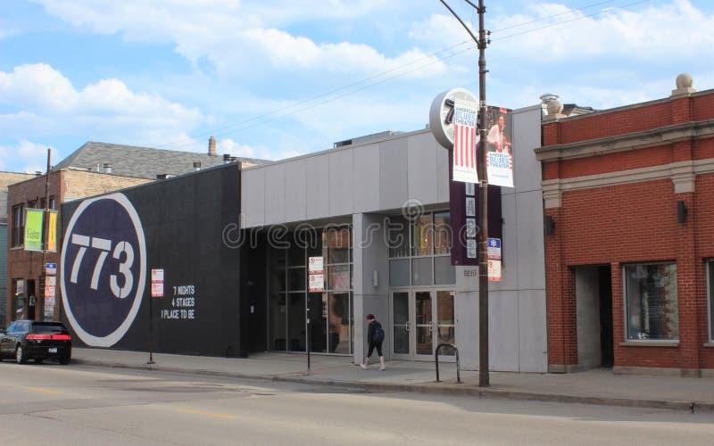 Stadium 773, de van-Lijntheater van Chicago stock afbeelding