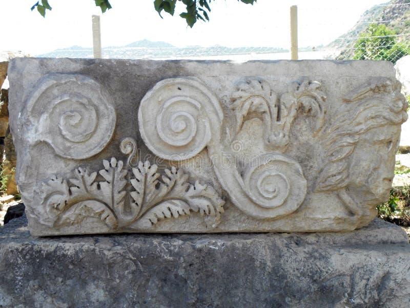 Stadium des griechisch-romanischen Theaters in der Türkei lizenzfreies stockfoto