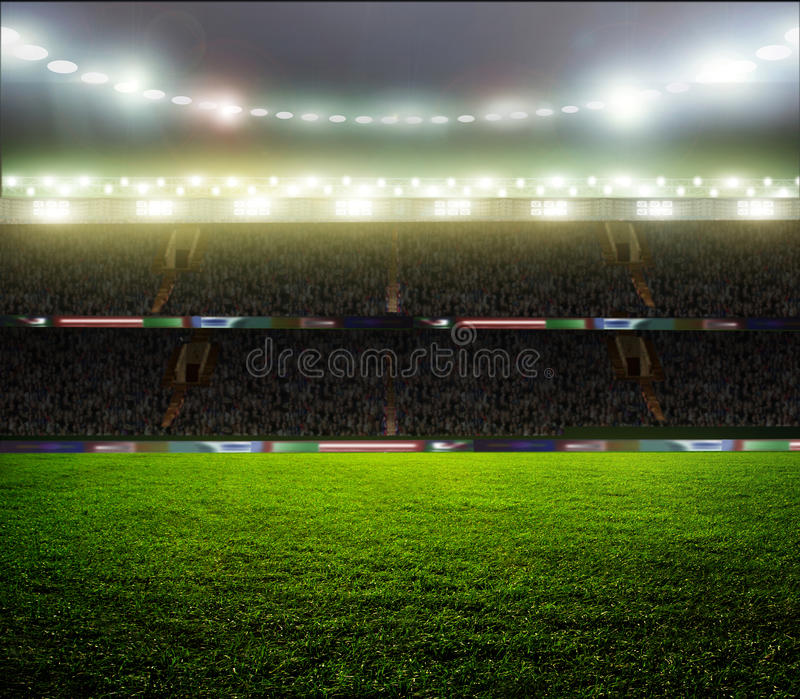 On the stadium. royalty free stock photography