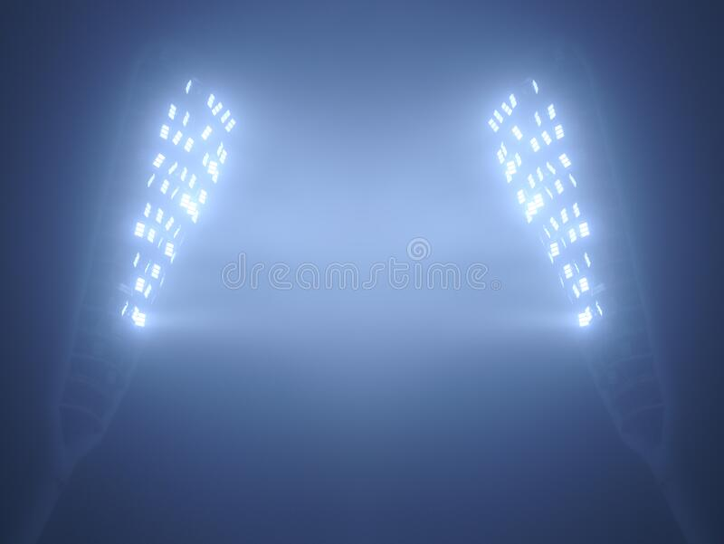 Stadium Floodlights against Dark Night Sky royalty free stock images
