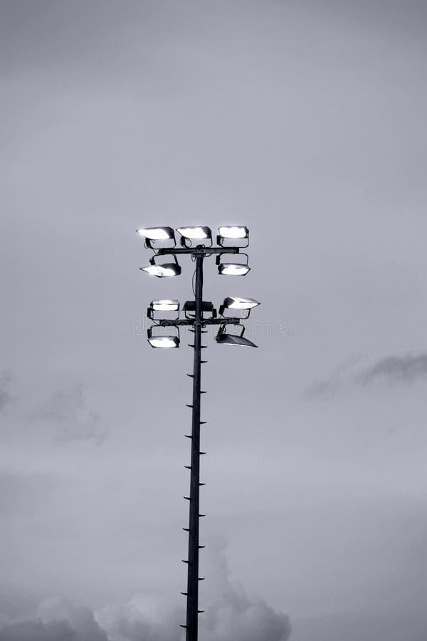 Stadium floodlights royalty free stock photo