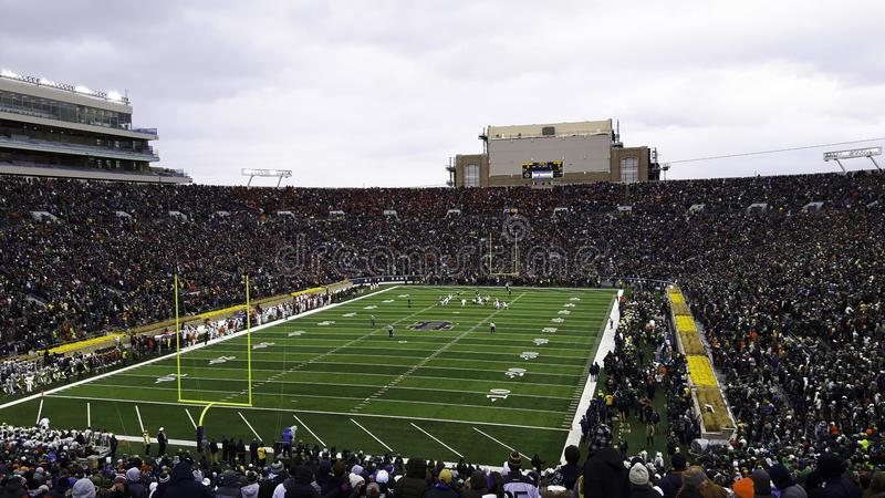 a stadium full of people during a game stock photo