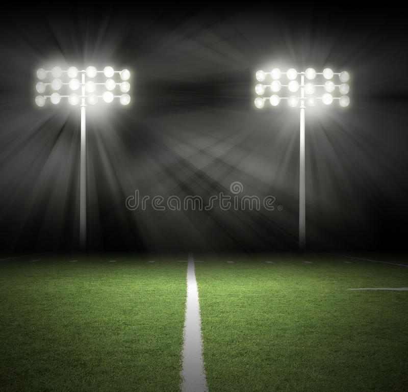 Football Stadium Night Lights