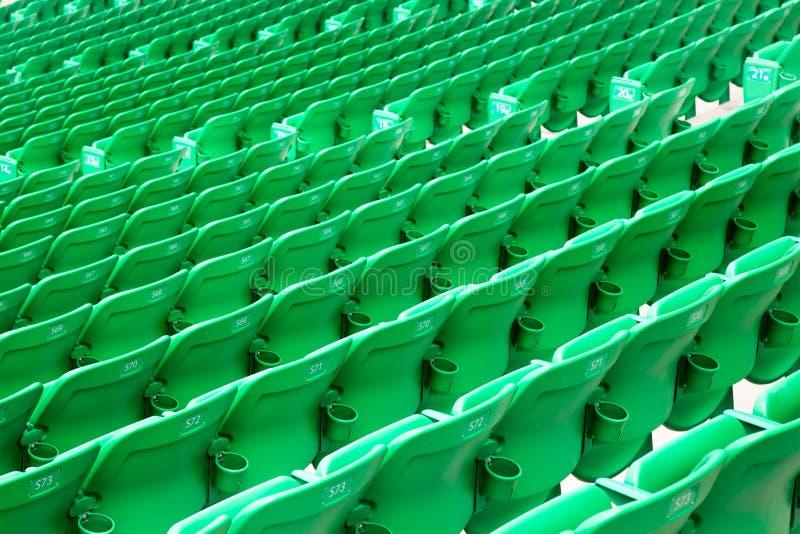 Stadium Green Seats Royalty Free Stock Image