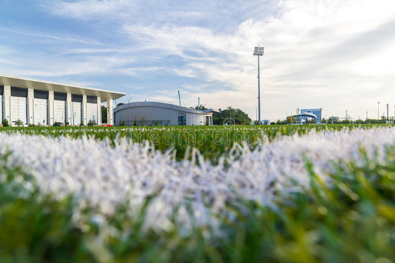 Download Stadium Ground Level stock image. Image of clouds, colored - 27184435