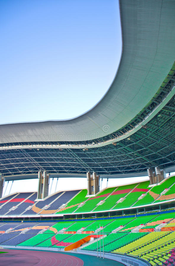 Stadium in guangzhou. The stadium for Soccer in Guangzhou,which is named the Olympic sports center stock photography