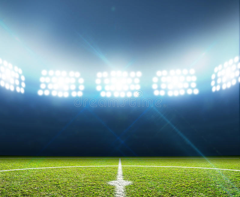 Stadium I piłki nożnej smoła zdjęcia stock