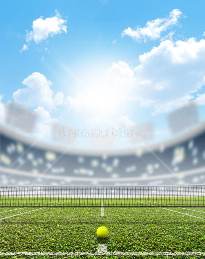 Stadium I Tenisowy sąd fotografia royalty free
