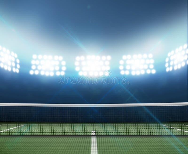 Stadium I Tenisowy sąd fotografia stock