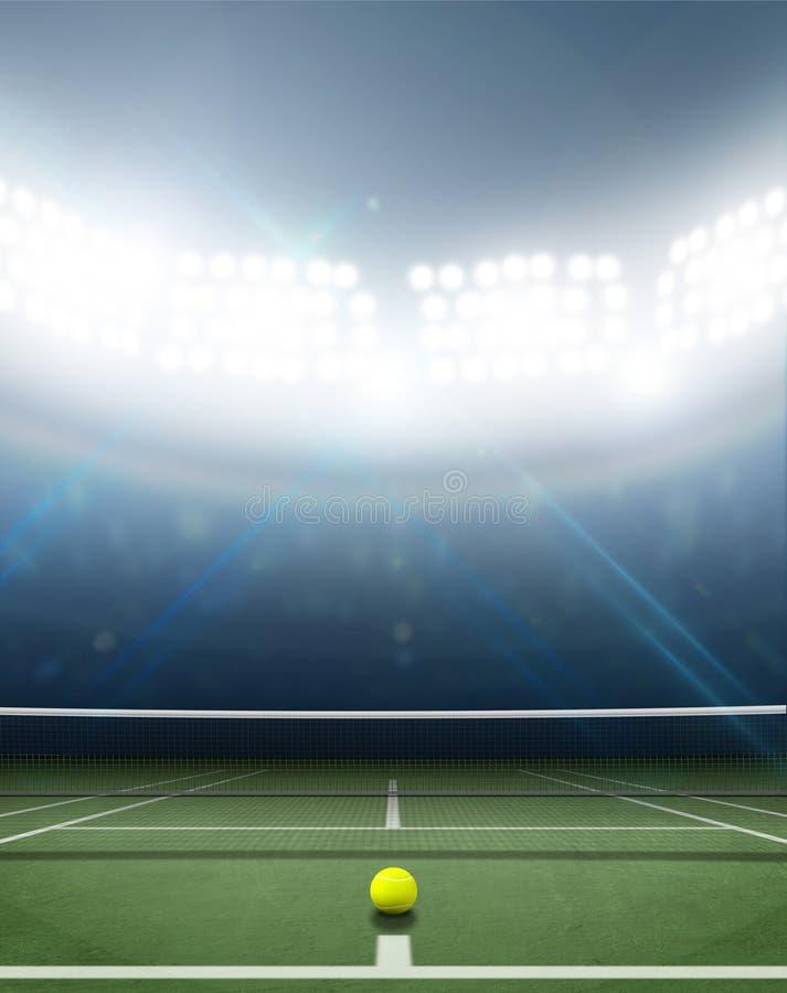 Stadium I Tenisowy sąd obraz royalty free