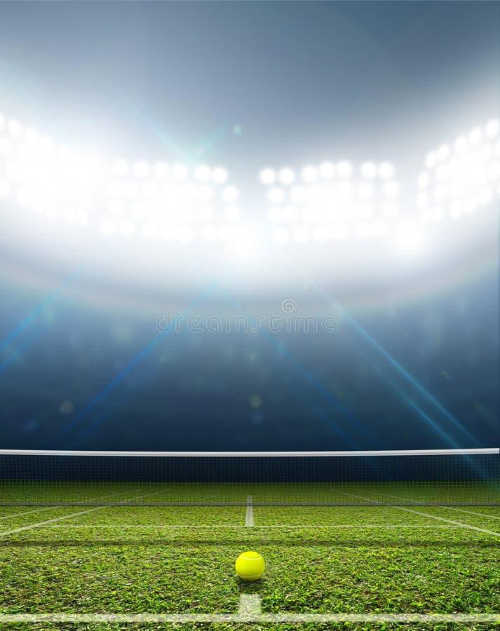 Stadium I Tenisowy sąd zdjęcie royalty free