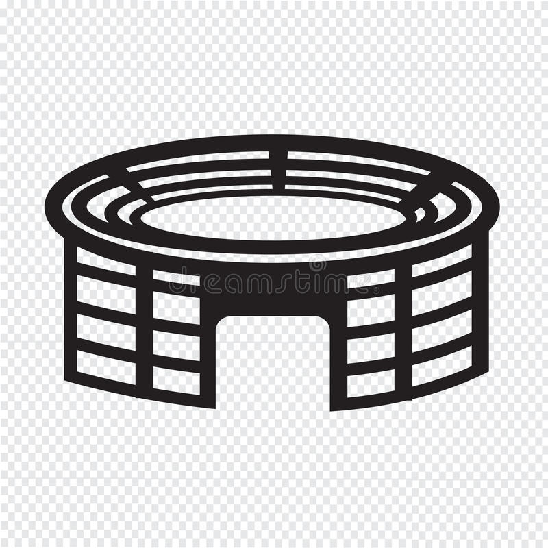 Stadium icon stock illustration