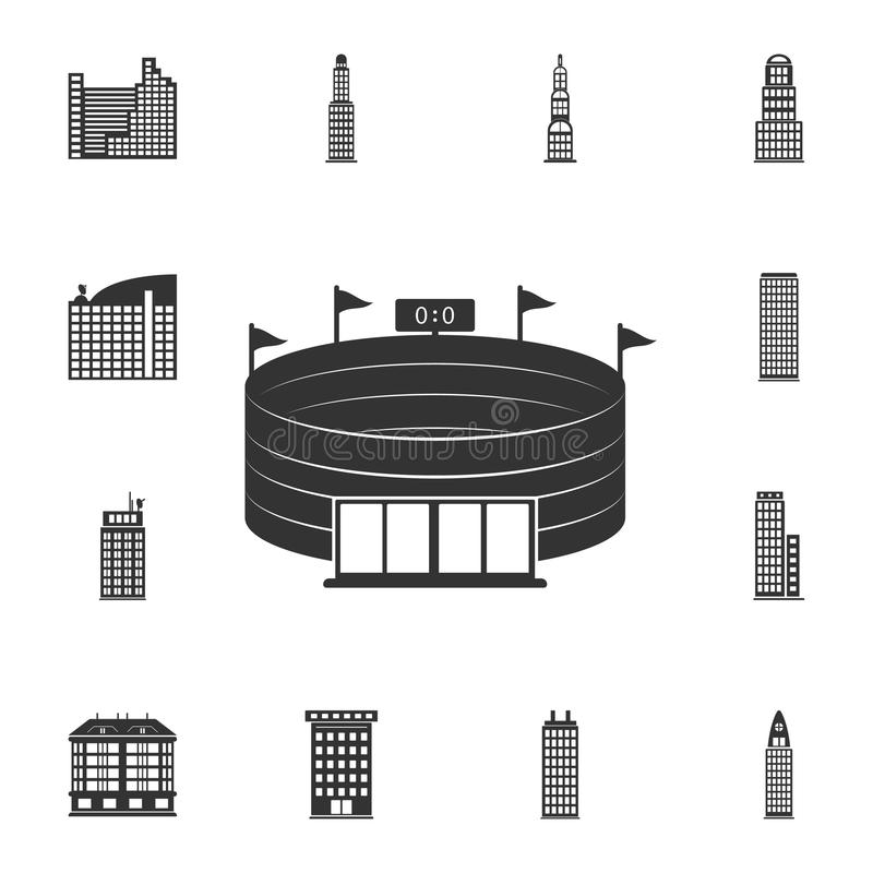 Stadium icon. Simple element illustration. Stadium symbol design from Buildings collection set. Can be used for web and mobile. On white background vector illustration