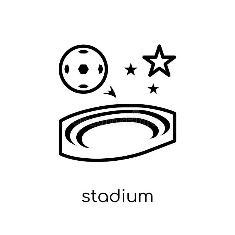Stadium icon. Trendy modern flat linear vector Stadium icon on w vector illustration