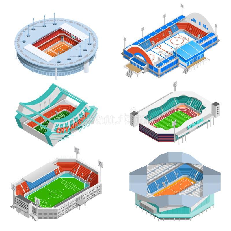 Stadium ikony Ustawiać royalty ilustracja