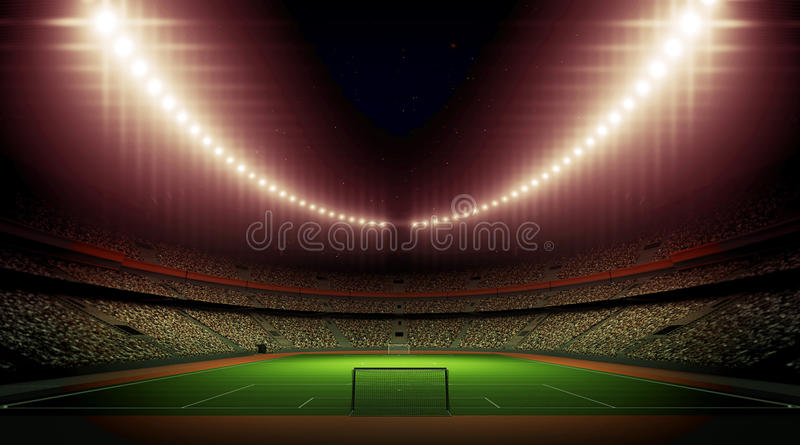 Stadium. An imaginary stadium is modelled and rendered vector illustration